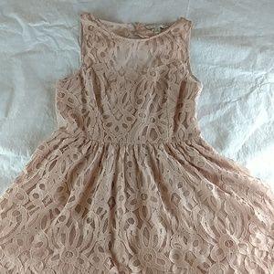 L.C Lauren Conrad mini dress size 14 color rose go